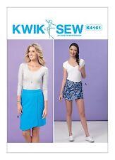 Kwik Sew SEWING PATTERN K4161 Misses Skort & Skirt XS-XL