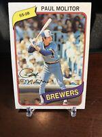 1980 Topps Paul Molitor Milwaukee Brewers #406 Baseball Card