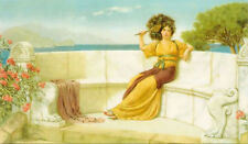 Dream-art Oil painting john william godward in the prime of the summer time girl