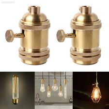 E26 E27 Vintage Solid Brass Keyed Lamp Holder Screw Thread Light Socket DT1089YA