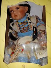 Kinnex Collectible Heirloom Native American Indian Porcelain Doll One