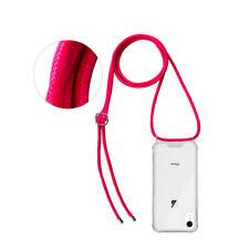 """OKKES """"Kordon"""" Schnur zum Umhängen TPU Hülle Case Tasche für iPhone XR pink"""