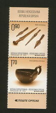 BOSNIA-SERBIA-MNH** PAIR-ARCHAELOGICAL FINDINGS IN DONJA DOLINA-2014.