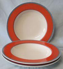 Villeroy & Boch Tipo Viva Red Rim Soup or Salad Bowl set of 3