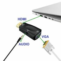 ✅HDMI INPUT to VGA OUTPUT - HDMI to VGA Converter Adapter for PC DVD TV Monitor✅