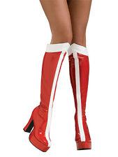 Adult Wonder Woman Boots Fancy Dress Costume Shoes Superhero Ladies Womens BN