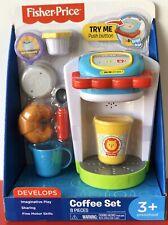 Fisher Price Coffee Set Imaginative Play Coffee Pod sugar creamer Fun Food