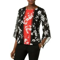 ALFANI NEW Women's Floral Chiffon Sleeve Blouse Shirt Top TEDO
