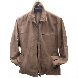 $3495 RALPH LAUREN PURPLE LABEL Men's Suede Zip Front Jacket - L