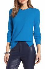 Halogen Womens Crewneck Cashmere Sweater Long Sleeve Ribbed Cuff Hem Knit M $98