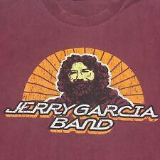 Trashed Jerry Garcia Winter Tour 1980 2XL 2-Sided T-Shirt Guitar Deadhead Music