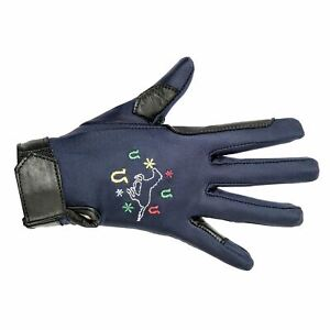Galloping Horse Riding Glove Kids Junior Winter Pro Team Breathable Better Grip