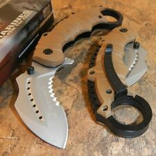 USMC OFFICIAL US MARINES Spring Assisted Open TAN KARAMBIT Ring Finger Knife!!