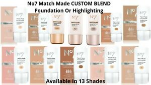 No7 CUSTOM BLEND Highlighting Or Foundation Drops 15ml Available In 14 Shades