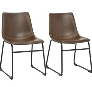 Per Home Vintage Faux Leather Dining Chairs New!!