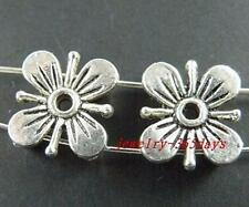 15pcs Tibetan Silver 2holes Flower Spacers 13x11mm 722