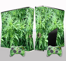 Fancy Green X box 360 Skins Vinyl Sticker Decals Cover for X box Slim Console