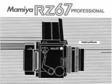 MAMIYA RZ67 PRO INSTRUCTIONS MANUAL FREE SHIP