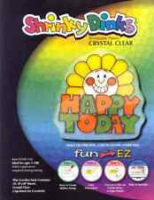 Shrinky Dinks Crystal Clear 10 Sheet Creative Pack Color, Bake and Shrink .