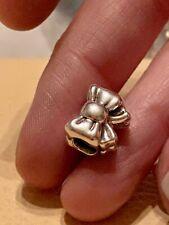 Genuine Pandora Silver Bow Ribbon Charm 791204