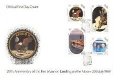 Liberia 20Th Anniversary Of Apollo 11 Moon Landing, First Day Cover Sc#1125-1128