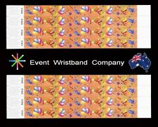 100 x Party Streamers Tyvek Wristbands,  party, security, event, school