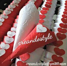 50 coni portariso confetti nozze matrimonio eventi MONTATI colorati