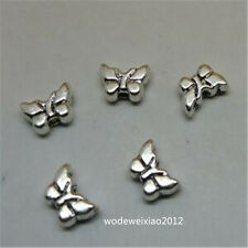 40pc Tibetan Silver Small Butterfly Spacer Beads Accessories Beading JP901