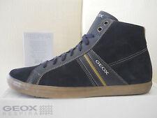 Geox U SMart Q Suede DK Navy scarpe uomo sneakers alte Pelle tg.46 USA12.5 €110