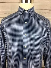 BROOKS BROTHERS Men's LS Blue Plaid Shirt Size 16-34/35