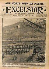 Toussaint Vallon Alsace Carré Militaire Tombes Chasseur Alpins Poilus  WWI 1916
