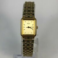 Seiko Womens V401-5129 Gold Tone Stainless Steel Quartz Analog Bracelet Watch