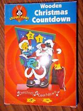 2001 Looney Tunes Tweety & Sylvester Wooden Christmas Countdown Advent Calendar
