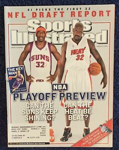 4.25.2005 SHAQUILLE O'NEAL HEAT Sports Illustrated AMARE STOUDEMIRE SUNS - NASH