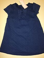 *NWT GYMBOREE* Girls WE HAVE ARRIVED 2 PC Sapphire Quilted Bow Dress Size 12-18M