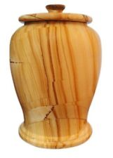 Teak Marble Urn Adult Funeral & Cemetery Cremation Urn for Human Ashes