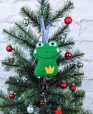Frog Christmas Tree Decoration Handmadetree trimming, Xmas ornament, adornment