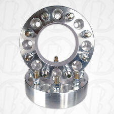 "Two 8 Lug 6.5"" To 8 x 170mm Wheel Adapters 1.5"" Spacer 14mm 1.5 Studs"