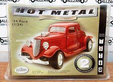 Testors 218 Die-Cast Gold Series 1934 Ford Coupe Custom model kit 1/24