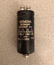 Kondensator Siemens Sikorel 105 - 4700uF/40V