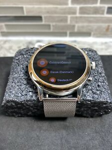 Fossil Gen 5 Smartwatch Stainless Steel- Gold Face with Silver Mesh Band FTW6061