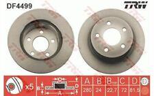 2x TRW Disques de Frein Avant Ventilé 280mm pour JEEP CHEROKEE DF4499