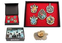 Hot Set of 5 pcs Harry Potter Hogwarts House Metal Pin Badge In Box Xmas Toys