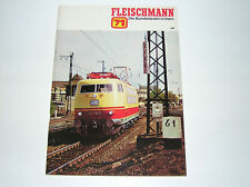 Fleischmann Katalog 1971 mit Auto-Rallye und Piccolo top Zustand