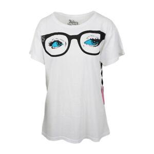 ABBEY DAWN Brille Damen Weiß Übergröße T-Shirt