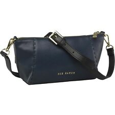 NEW Ted Baker Womens Hana Casual Leather Xbody Bag Navy RRP 129.90