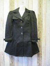 Knee Length Cotton Button Raincoats for Women