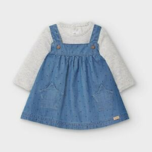 New Mayoral Baby Girls Pinafore & Long Sleeved Top, Age Newborn, ( 2860)
