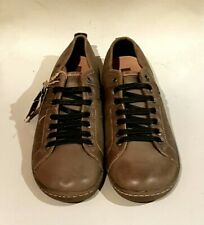 MEN'S CORONEL TAPIOCCA LEATHER LACE UP SPORTS SHOES TRAINERS 46 UK 13 - BROWN