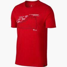 Nike Air Jordan Aj 3 Sketch T-Shirt Red Ao8937-657 Men's Nwt